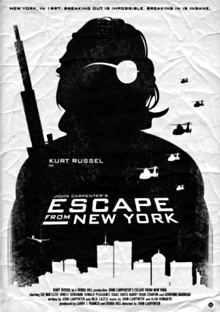 Poster alternativo di Alain Bossuyt per 1997: Fuga da New York di John Carpenter